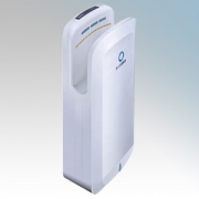 BlueDry BD1091W BD1091 White ABS Plastic Automatic Low Energy Blade Type Hand Dryer IPX1 0.7kW - 1.65kW