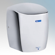 Biodrier BL09C Biolite Chrome Die-Cast Aluminium Low Energy Compact Automatic Hand Dryer IP22 0.65kW - 0.9kW