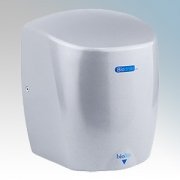 Biodrier BL09S Biolite Silver Die-Cast Aluminium Low Energy Compact Automatic Hand Dryer IP22 0.65kW - 0.9kW