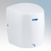 Biodrier BL09W Biolite White Die-Cast Aluminium Low Energy Compact Automatic Hand Dryer IP22 0.65kW - 0.9kW