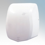 Hyco PRMW Prism White Stainless Steel Compact Low Energy Automatic Vandal Resistant Hand Dryer With Blue Zone Indicator IPX22 0.