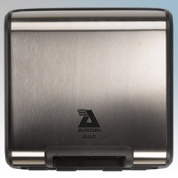 Airdri Quad Brushed Stainless Steel Slim Profile Automatic Fast Dry High Speed Hand Dryer 1.7KW